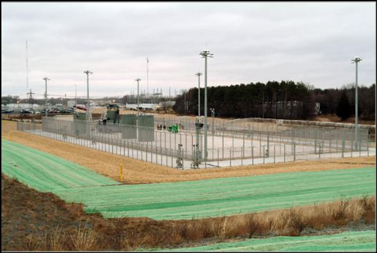 Dry-fuel storage facility