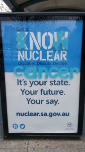An Adelaide resident, in the righteous grip of nuclear fear, felt that expressing his intractable opposition trumped laws against vandalism.